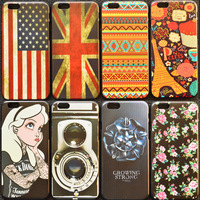 wholesale 10pcs cool color drawing style case for apple iphone 5 5S for iphone5 lowest price high quality cell phone back cover