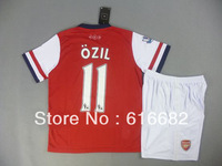#11 Ozil kids/youth soccer jersey Arsenal Home Youth uniforms 2013 14,Arsenal Kids soccer uniforms