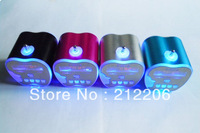 Free Shipping,T-2012 Music Mini MP3 Speaker MP3 Player Support USB Micro SD Card FM Speaker 3in1,200pcs/lot