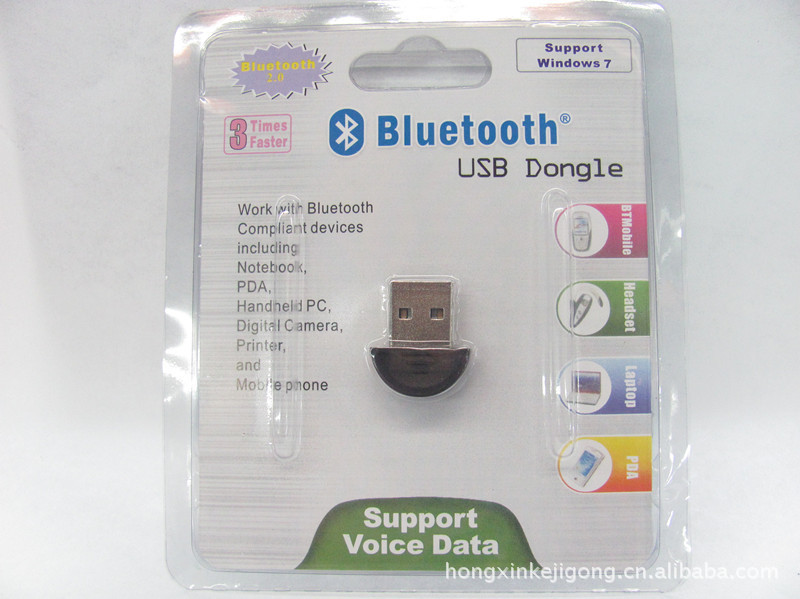 USB 2.0 Mini Bluetooth V2.0 EDR Dongle Adapter 20pcs/lot W/ retail package