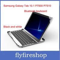 Retail Aluminium Bluetooth Wireless Keyboard for Samsung Galaxy Tab 10.1 P7500 P7510 Tablet PC + Free shipping