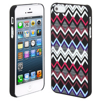 Skque Coloured Wave Pattern PC Protector Back Case Cover for Apple iPhone 5/5S, White
