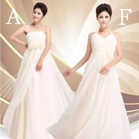 New Arrival Multi Design Chiffon Long Party Dress Champagne Slim Wedding Bridesmaid Dresses Wholesale,Retail