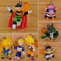 "Free Shipping 7 pcs Dragon Ball Z 2"" PVC Figure Keychain Dragonball Figure Wholesale Anja Japan Anime Toys Online Shop"