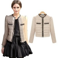 Slim wadded jacket female cotton-padded jacket wadded jacket design short cotton-padded jacket outerwear