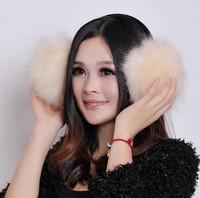 Fur rabbit long woolen soild fashion earmuffs girls fox hair children ear warmer women warm earmuffs ear winter super