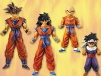 Free shipping 4pcs/set DragonBall Figures Goku KRILLIN Dragon Ball PVC Anime Action figure Toys In Box