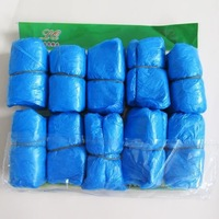 hot-sale100x Elastic Disposable Plastic Protective Shoe Covers Carpet Cleaning Overshoe[010417]