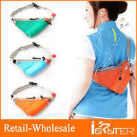 Multi-fuction Outdoor Recreational Sports Bags 3 Colors Option Close-Fitting Shoulder Messager Waist Storage Bag Pouch