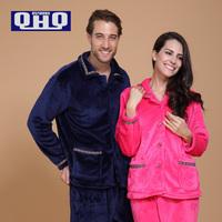 QHQ New 2014 Fashion Autumn And Winter Coral Velvet Robe Nightgown Couple Cute Female Pajama Sets Ms. Pajamas Bathrobe