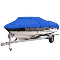 "Boat Cover for 20'21'22' Beam 100"" Heavy Duty Trailerable Fish Ski V Hull 210D L"