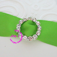 small round diamante ribbon sliders, 10mm inner bar,small rhinestone buckle ,DIY wedding supply, 150pcs/lot