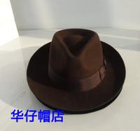 Wool fedoras wide brimmed hat gentleman hat lihua