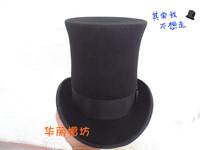 Fashion wool tube fedoras president cap gentleman hat magic cap lihua 22cm hat for man millinery