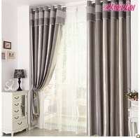 Free Shipping For Living-room & Balcony Ready-made Pleated Curtain Finished Curtain Eyelet & Hooks Without Valance High Quality