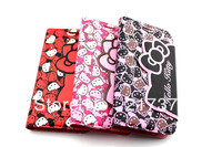 Cute Hello Kitty Leather PU With Card Stand Case Cover For Samsung Galaxy SIII S3 i9300 Free Shipping