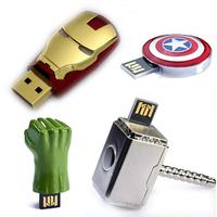 4pcs x Superhero suit model USB 2.0 Enough Memory Stick Flash Pen Drive 2GB/4GB/8GB/16GB