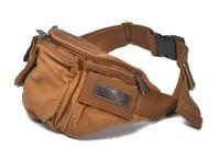 Waist purse Sport Messenger leisure chest pack Men's outdoor pockets solid canvas