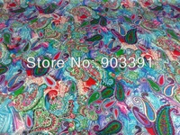 2013 New Fashion 100% Silk Paisleys Printed Charmeuse Satin Fabric Wholesale