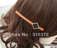 Free shipping  Handmade black flower  spring clip