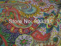 Paisleys Printed 100% Silk Lycra Stretch Charmeuse Satin Fabric Wholesale