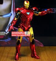 New arival Iron Man 3 Action Figure Superhero Iron Man Mark 42 PVC Figure Toy 20cm Christmas Gift