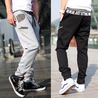 Men's clothing autumn loose sports pants cotton trousers casual pants plus size male wei pants harem pants