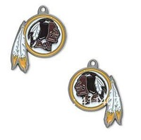 Free shipping NFL anti-silver single-sided Washington Redskins charms