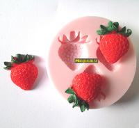 Free shipping Strawberries Silica gel mould handmade soap cake sugar chocolate cookie food tools silicone cooking mode