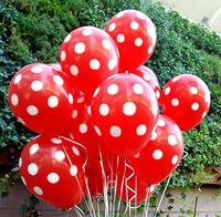 2013 Hot !! Free Shipping 12'' Polka Dots Balloons Printed Wedding Birthday Party Decorations Balloons Latex