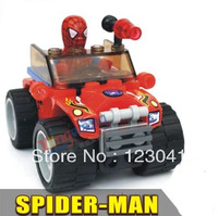 Free shipping High quality Spider Man and Chariot Building Blocks Set for the Christmas Gift