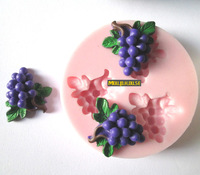 Free shipping 3 in 1 Grapes Silicone Mould For Candy Chocolate Candy Sugar Tiffy Cake Food Cooking Tools Food Grade Silicone