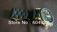 2013 Hot!!! Luxury Famous Brand Gold Rose Gold Quartz Steel Business Bracelet Wrist Watch for Women Man with LOGO