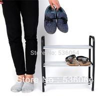 New Simple combination of 3-layer Plastic Shoes Rack Organizer Stand Shelf Holder Unit Black Light Freeshipping(China (Mainland))