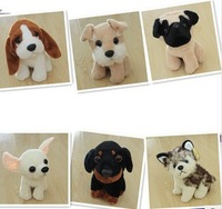 New 2013 cute animals plush dog toys 6 dogs/lot