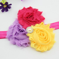 Infant Chiffon Flower Hairbow With Clip For Baby Toddler Girls Hair Accessories