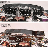 Women's strap genuine leather rhinestone belt female belt women's belt fashion genuine leather all-match