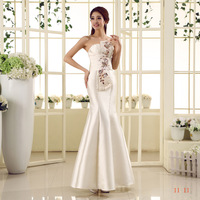 Free shipping 2013 Suzhou Huqiu outlet selling fitting thick satin  tube top formal evening dress