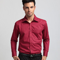 Free Shipping 2013New style Design Mens Camisa long Shirts high quality Red Casual Slim Fit Stylish Dress Shirts
