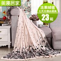 Flannel blanket thickening FL velvet sheets siesta blanket air conditioning towel coral fleece blanket
