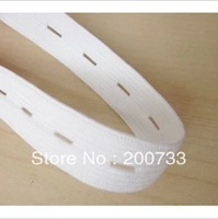 Free shipping black and white garment sewing accessories 2cm flat elastic webbing band with hole30yards/lot