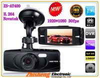 new 2013 Newest 100% Original Full hd 1920x1080 car dvr AT400 Novatek 96650 Camera brushed metal panel !Night Vision car dvrs