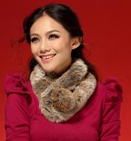 2012 muffler scarf fashion thermal rex rabbit hair scarf autumn and winter rabbit fur fur female