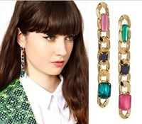 2013 Fashion Accessories Chain Stud Earring Personality Trend Geometry Women's Stud Earring