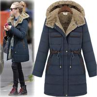 2013 European Medium-long Plus Size Thickening Slim Down Coat