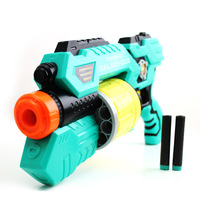 10pcs Chrismas Gift Boys Non-electric 6 Round eva Kids Safe Shooting Toy Children's Soft Sponge Bullet Guns 600*120*260mm D6