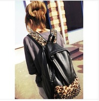 new arrival Leopard printing backpack,rivet style girl outdoor vintage school bag,pu leather shoulder bag,luxury backpack/436