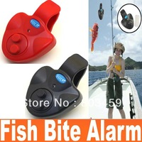 High Quality  Practical Electronic Fish Bite Finder Alarm LED Light Bell Clip Fishing Rod Russia preferential Free Shipping