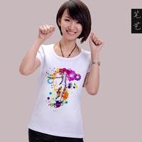 Diy , personalized quick-drying roller t-shirt women's t-shirt skating shirt