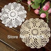 Wholesale Handmade Crochet Coastet 16cm Cotton cup mat Shabby Chic Vintage Crocheted Doilies 30pcs/Lot